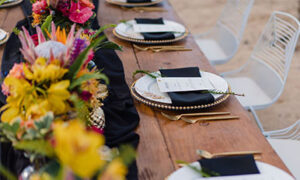 Banquet Table. Fairmont Orchid, Hawaii