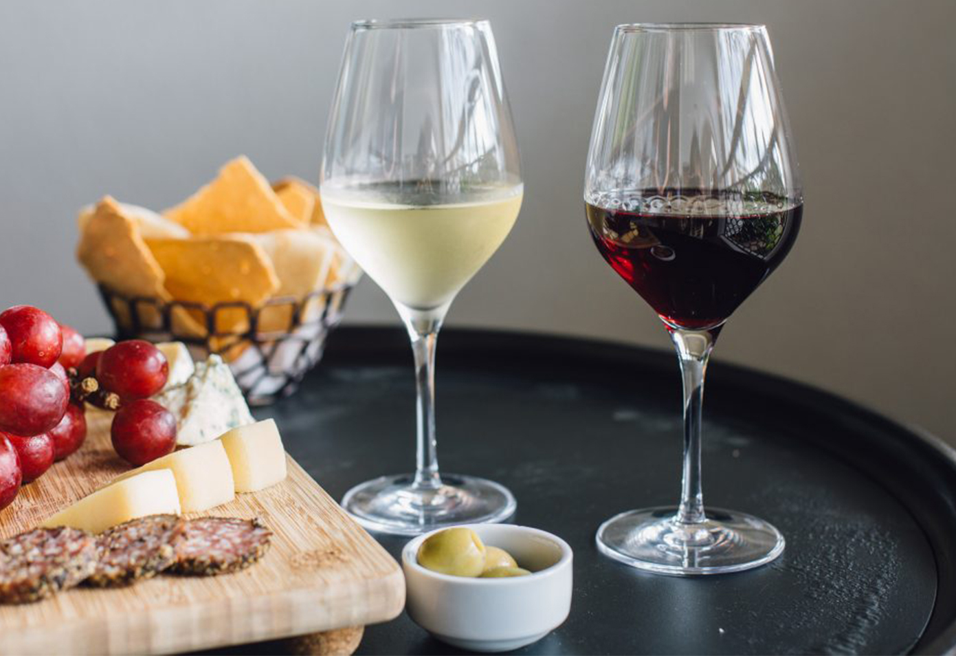 Wine and cheese amenity